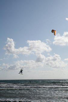 Kite Surfing, Sea, Wind, Sport, Kitesurfer, Water