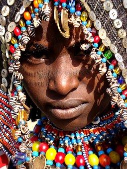 Africa, African Face, Afar Tribe, African Girl, Wedding