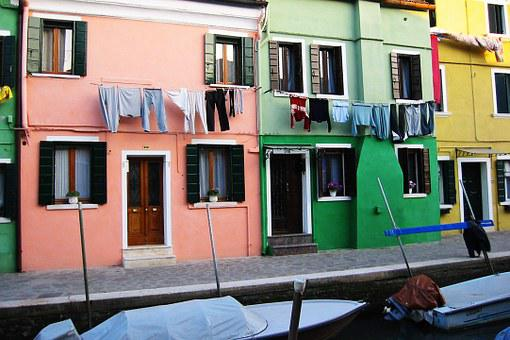 Venice, Houses, Italy, Colors, Windows Washing