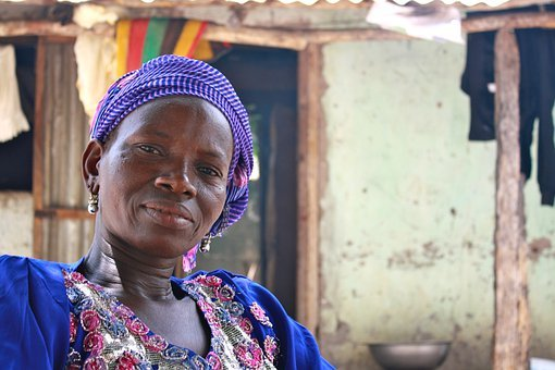 African, Woman, Hut, Home, House, Face, Head, Adult