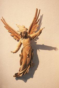 Angel, Wood, Carved, Unika Art Project, Sculptor, Art