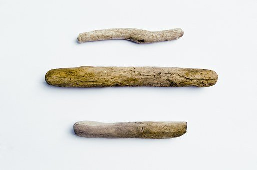 Three Pieces Of Driftwood, Driftwood, Wood, Three