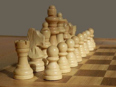 White, Pieces, Chess, Set, Game, Wood, Wooden, Board