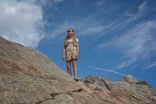 Girl, Child, Person, Human, Out, Nature, Mountain