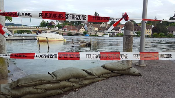 High Water, Rhine, Stein Am Rhein, Barrier, Fire