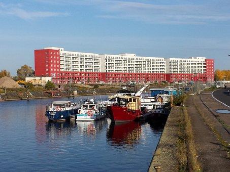 Offenbach, Port, River, Ship