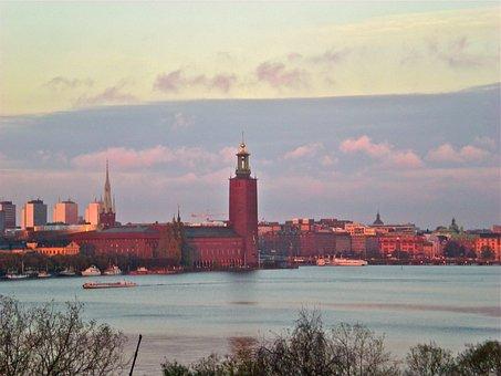 City Hall, Stockholm, Horizon, Skyline