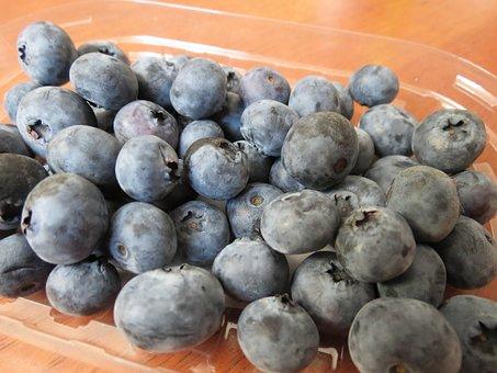 Blueberries, Berries, Fruit, Jagoda, Violet