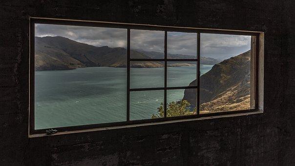 Window, Landscape, Lyttleton Harbour