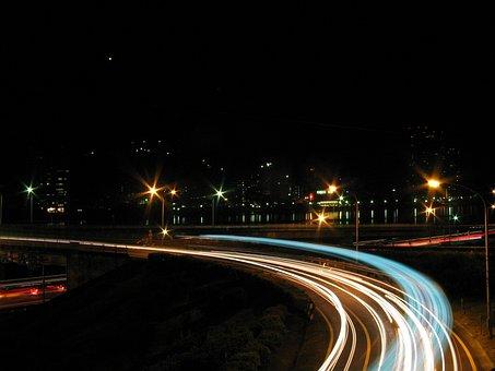 Traffic, Taiwan, Night, Lights, Street, Road