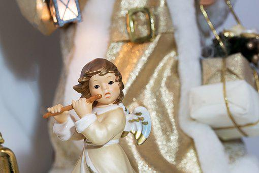 Christmas, Angel, Flute, Snow, Winter, Snowy