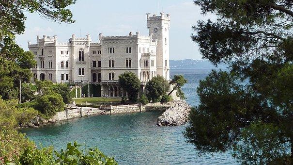 Castello Di Miramare, Castle, Adriatic, Italian, Italy
