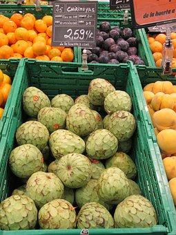 Chirimoya's, Exotic Fruits, Fruits, Market