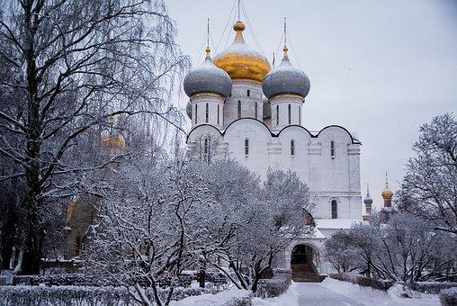 Moscow, Convent, Orthodox, Church, Bulbs