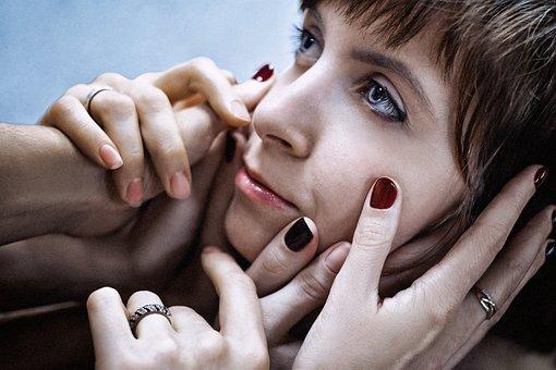 Girl, Model, Hands, Brush, Fingers, Photoshoot, Cinema
