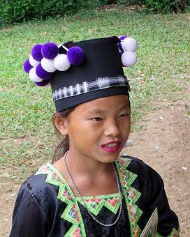 Laos, Girl, Hmong, Black Hmong, Students