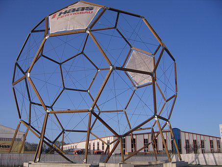 Icosahedron, Polyhedron, Space Geometry, Geometry, Wood