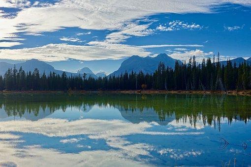 Lake, Reflection, Wilderness, Scenery, Serene, Tranquil