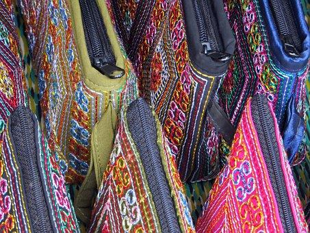 Laos, Market, Display, Colors, Kits, Folk Art
