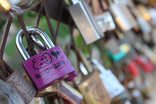Lock, Love, Bridge, Heart, Couple, Link, Padlock, Metal