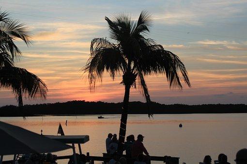 Key West, Florida, Sky, Usa, Water, Mood, Holiday, Pier