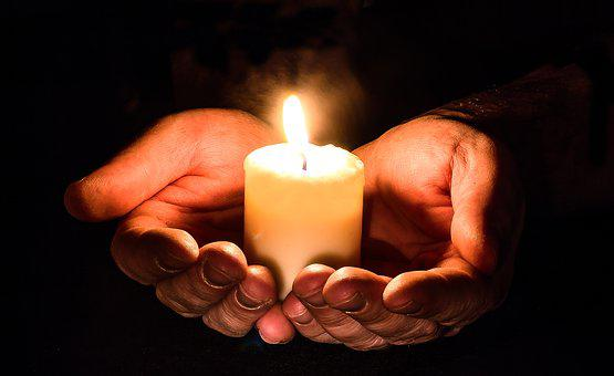 Hands, Open, Candle, Candlelight, Light, Prayer, Pray