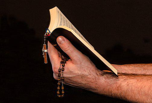 Prayer, Prayer Book, Rosary, Man Hand, Hold Prayer Book