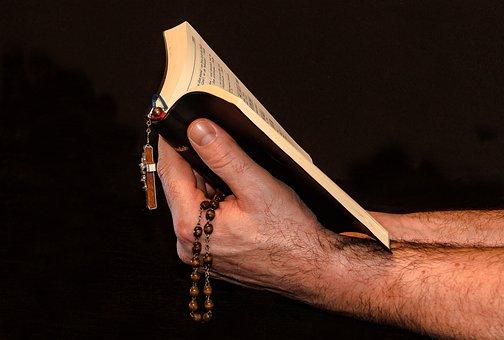 Prayer, Prayer Book, Rosary, Man Hand, Hold Prayer Book