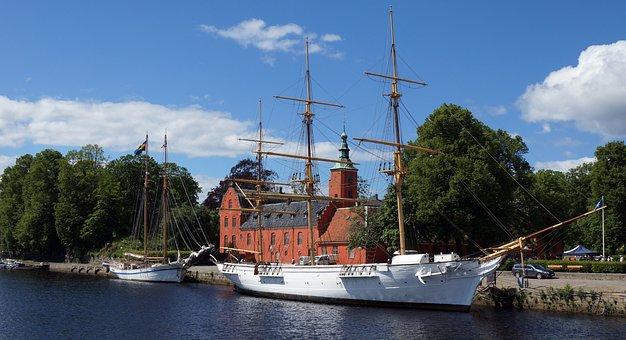 Najaden, Halmstad, Castle, Sailing Ship