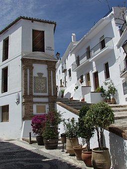 Town, Street, Spain, Figrliana, Architecture