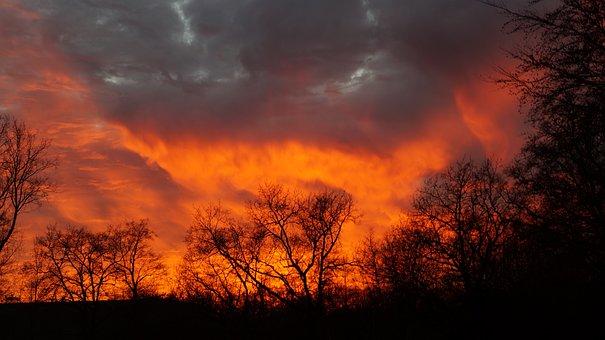 Natural Phenomenon, Sunset, Weather Phenomenon