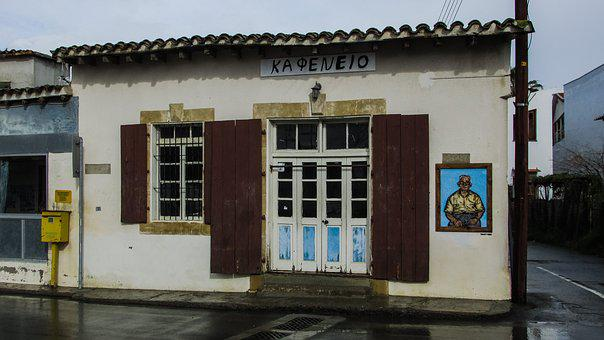 Coffee Shop, Kafenio, Traditional, Old, Village