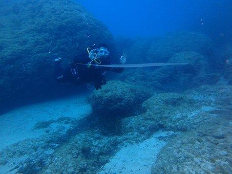 Submarine, Sea, Water, Blue, Mediterranean Sea, Vacancy