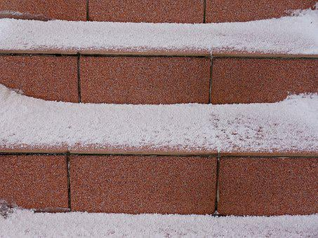 Winter, Snow, Stairs, December, Precipitation, White