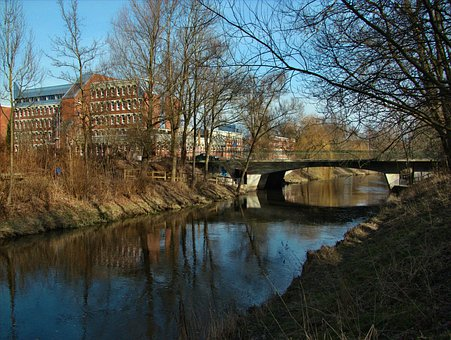 Travebruecke, Bridge, Building, Bad Oldesloe, Germany