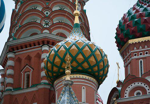 Moscow, Red Square, Dome, Bulbs