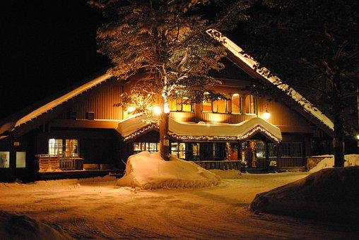 Comfort, Hyttte, Light, Snow, Winter