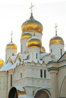 Moscow, Kremlin, Cathedral, Orthodox, Bulbs, Cupolas