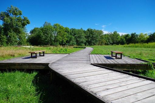 Bench, Promenade, Jonzac