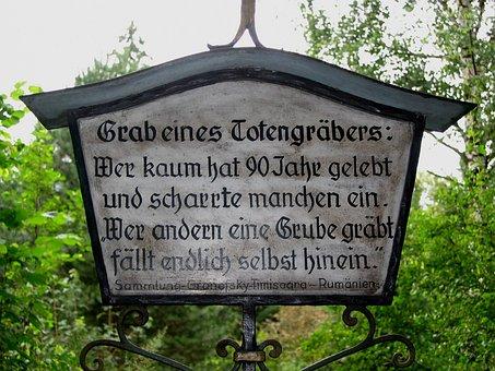 Gabmal, Tombstone, Stone, Grave