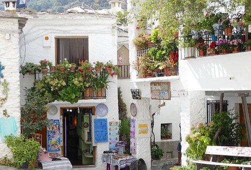 Spain, Business, Pedestrian Zone, Shopping Street
