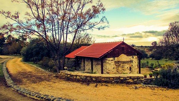 Church, Chapel, Path, Countryside, Winter, Nature