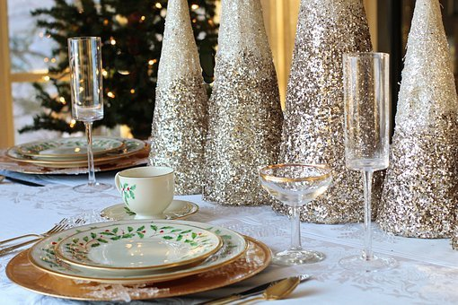 Christmas Dinner, Christmas Table, Table Setting
