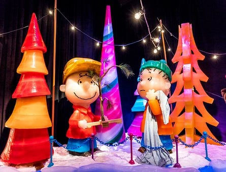 Ice Sculpture, Charlie Brown, Christmas Trees, Cute