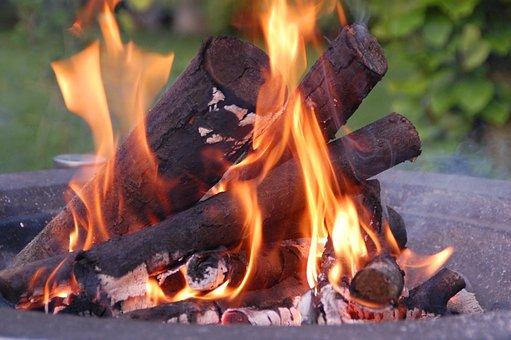 Fire, Flames, Brasero, Heat, Wood