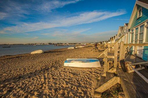 Hengistbury Head, Cabins, Beach, Ocean, Holiday