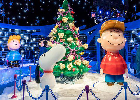 Ice Sculpture, Charlie Brown, Christmas Tree, Cute