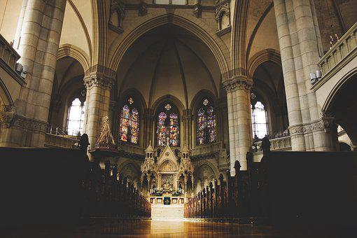 Church, Interior, Inside, Christian, Catholic