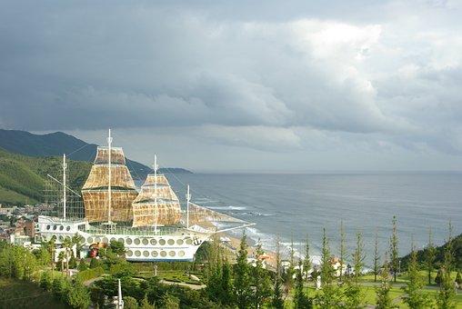 Sailboat, Times, Jung Dong-jin, Beach, Landscape