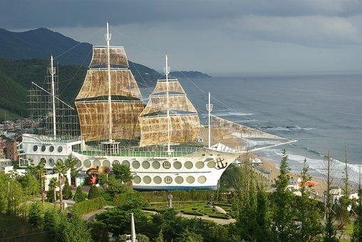Jung Dong-jin, Sea, Sailboat, Gangneung, Japan Sea